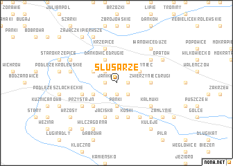 map of Ślusarze