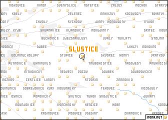 map of Sluštice