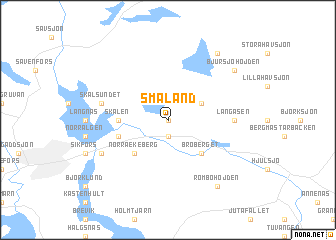 map of Småland