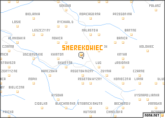 map of Smerekowiec