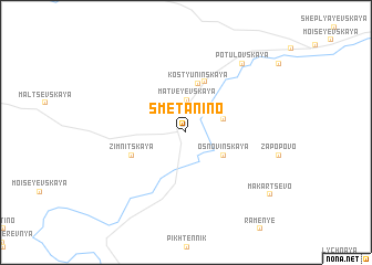 map of Smetanino
