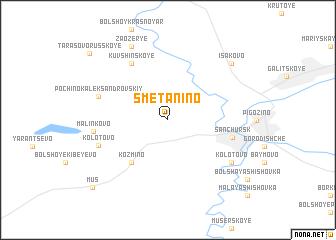 map of Smetanino