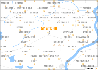 map of Smętowo