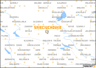 map of Śmieciuchówka