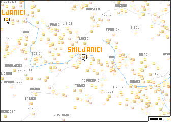 map of Smiljanići