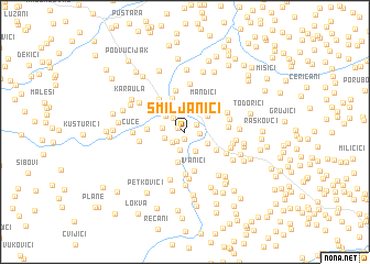 map of Smiljanići