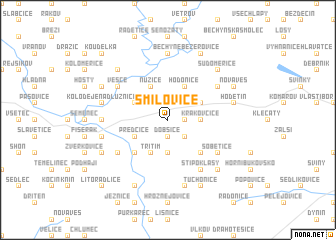 map of Smilovice