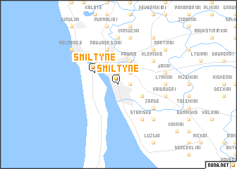 map of Smiltynė