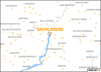 map of Smith Landing