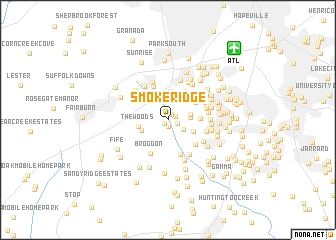 map of Smoke Ridge