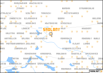 map of Smolany