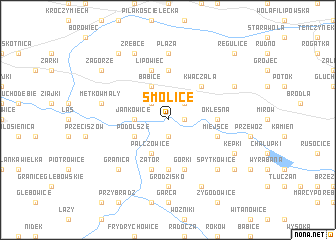 map of Smolice