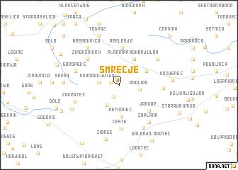 map of Smrečje