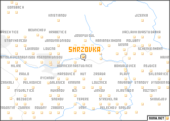 map of Smržovka