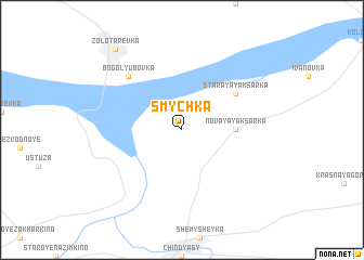map of Smychka