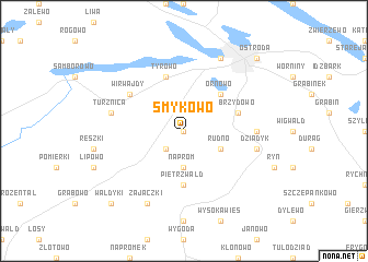 map of Smykowo
