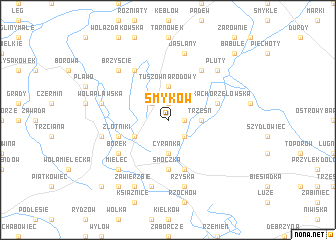 map of Smyków