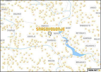 map of Snagovo Donje