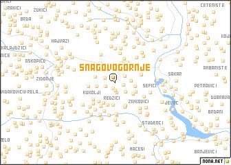 map of Snagovo Gornje