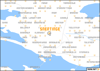 map of Snertinge