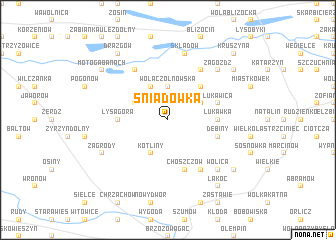map of Śniadówka