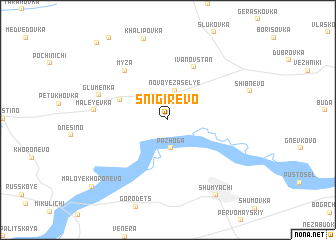 map of Snigirëvo