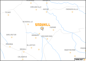 map of Snow Hill