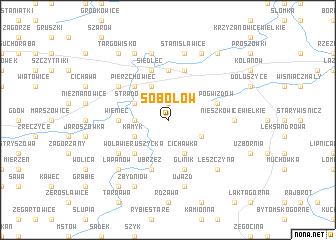 map of Sobolów