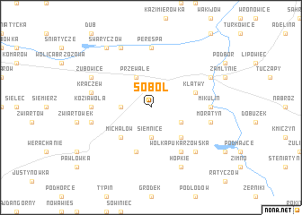map of Soból