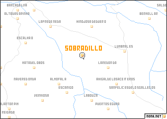 map of Sobradillo