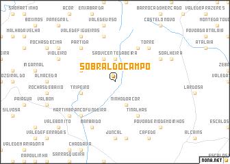Sobral Do Campo Portugal Map Nonanet - Sobral map