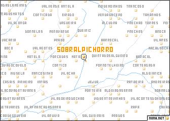 Sobral Pichorro Portugal Map Nonanet - Sobral map