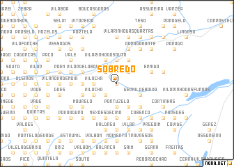 map of Sobredo