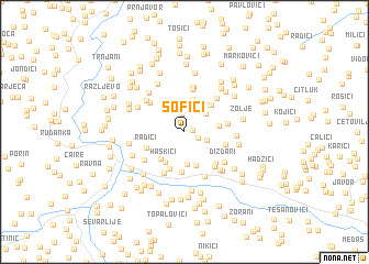 map of Sofići