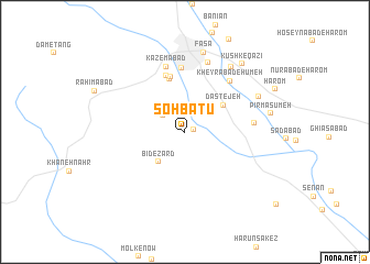 map of Şoḩbatū