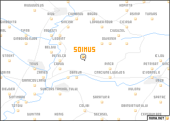 map of Şoimuş