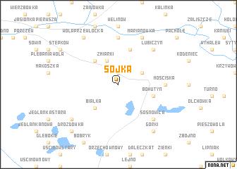 map of Sójka