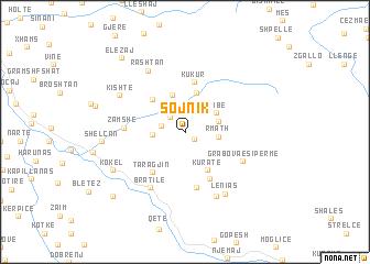 map of Sojnik