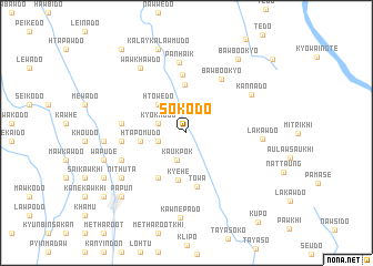 map of Sokodo