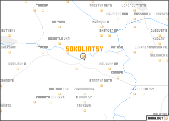 map of Sokolintsy