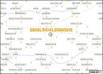map of Sokolniki Klonowskie