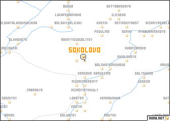 map of Sokolovo