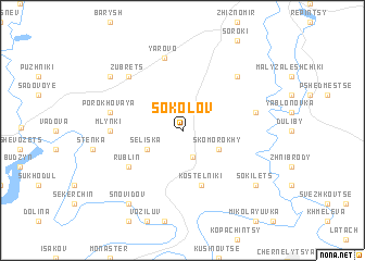 map of Sokolov