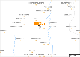map of Sokoly