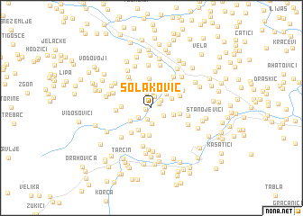 map of Solaković
