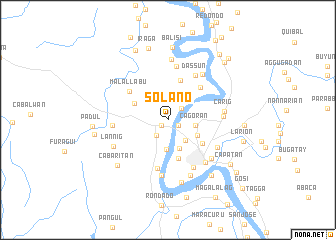 map of Solano