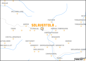 map of Solá Ventolá