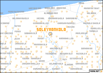map of Soleymān Kolā