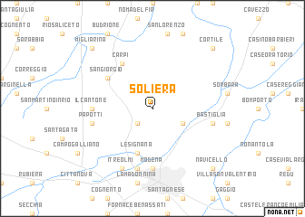 map of Soliera