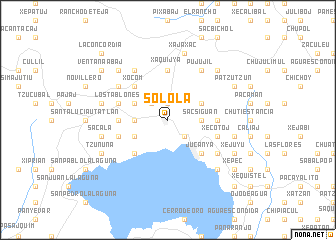 Solola Guatemala Map Sololá (Guatemala) map   nona.net
